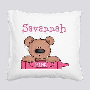 Savannah's Square Canvas Pillow