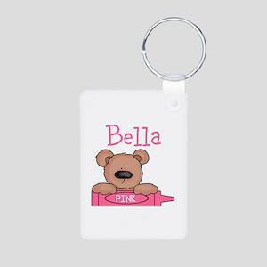 Bella's Aluminum Photo Keychain