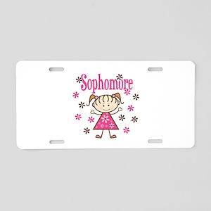 Sophomore Girl Aluminum License Plate