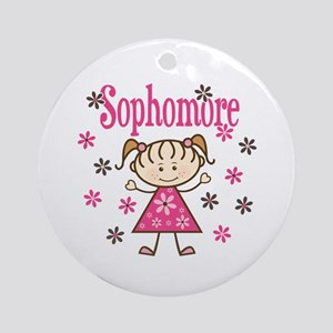 Sophomore Girl Ornament (Round)