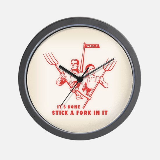 Stick A Fork In It Wall Clock