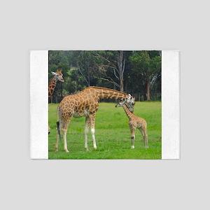 Baby Giraffe 5'x7'Area Rug