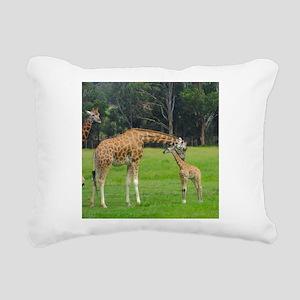 Baby Giraffe Rectangular Canvas Pillow