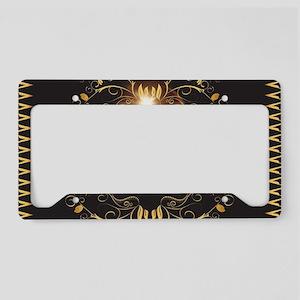 Golden key notes License Plate Holder
