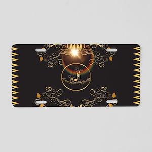 Golden key notes Aluminum License Plate
