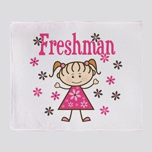 Freshman Girl Throw Blanket