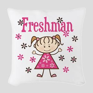 Freshman Girl Woven Throw Pillow