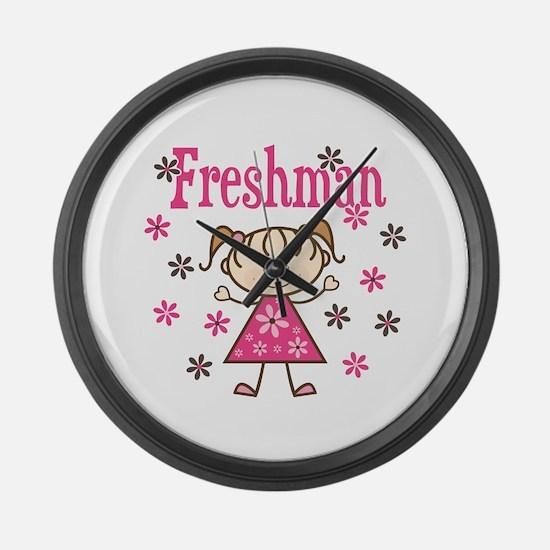 Freshman Girl Large Wall Clock
