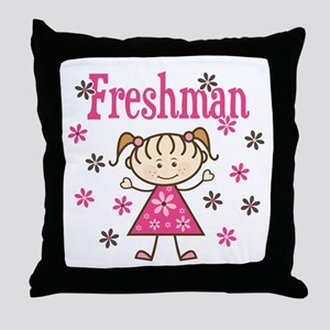 Freshman Girl Throw Pillow