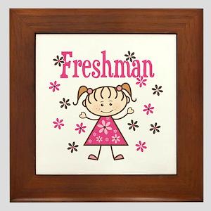 Freshman Girl Framed Tile