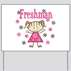 Freshman Girl Yard Sign