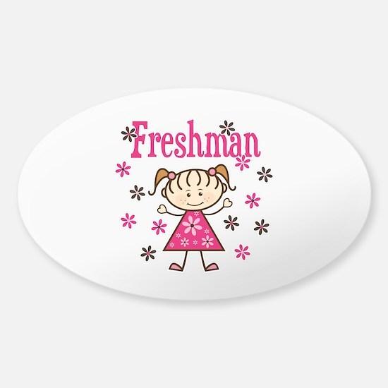 Freshman Girl Sticker (Oval)