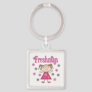 Freshman Girl Square Keychain
