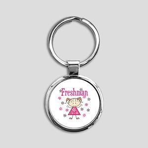 Freshman Girl Round Keychain