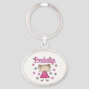 Freshman Girl Oval Keychain
