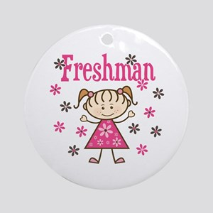 Freshman Girl Ornament (Round)