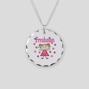 Freshman Girl Necklace Circle Charm