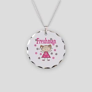 Freshman Girl Necklace Circle Charm