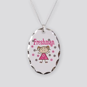 Freshman Girl Necklace Oval Charm