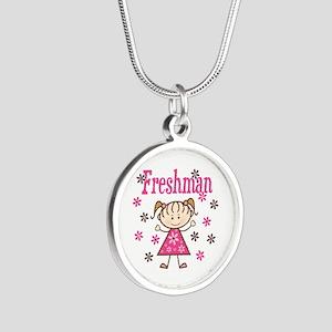 Freshman Girl Silver Round Necklace