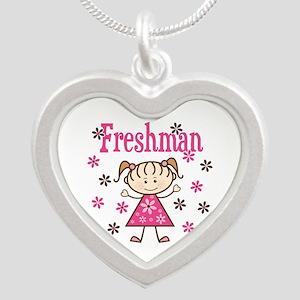 Freshman Girl Silver Heart Necklace
