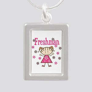 Freshman Girl Silver Portrait Necklace