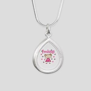 Freshman Girl Silver Teardrop Necklace