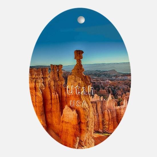 Utah Oval Ornament