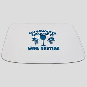 My Favorite Exercise is Wine Tasting Bathmat