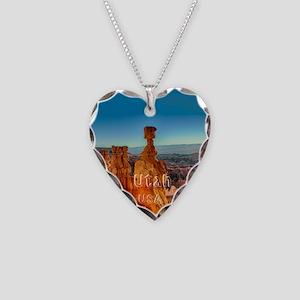 Utah Necklace Heart Charm