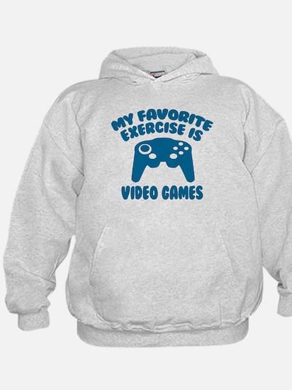 My Favorite Exercise is Video Games Hoodie