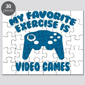 My Favorite Exercise is Video Games Puzzle