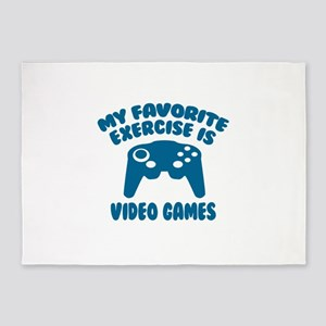My Favorite Exercise is Video Games 5'x7'Area Rug