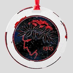 Olympiacos Black Metal Round Ornament
