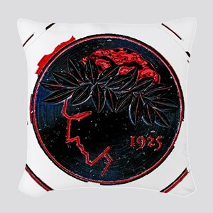 Olympiacos Black Metal Woven Throw Pillow