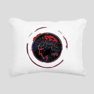 Olympiacos Black Metal Rectangular Canvas Pillow