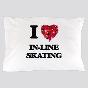 I Love In-Line Skating Pillow Case