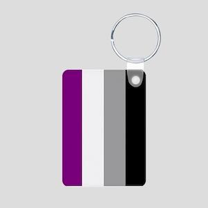 Asexual Pride Flag Aluminum Photo Keychain