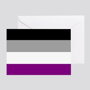 Asexual Pride Flag Greeting Card