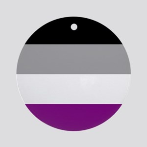 Asexual Pride Flag Ornament (Round)