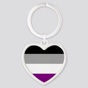 Asexual Pride Flag Heart Keychain