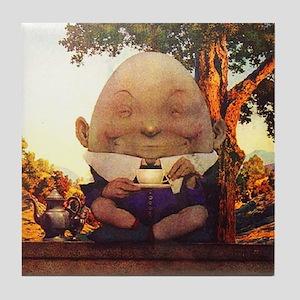 Humpty Dumpty in Wonderland Tile Coaster