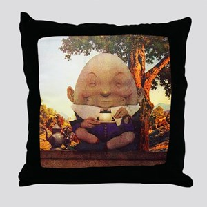 Humpty Dumpty in Wonderland Throw Pillow