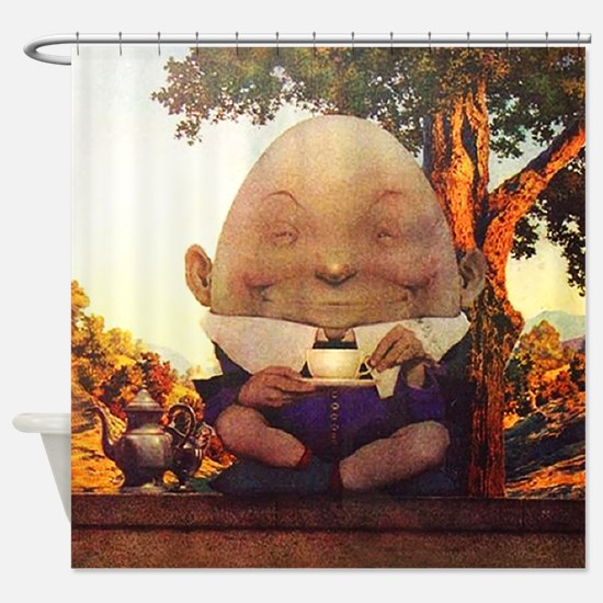 Humpty Dumpty in Wonderland Shower Curtain
