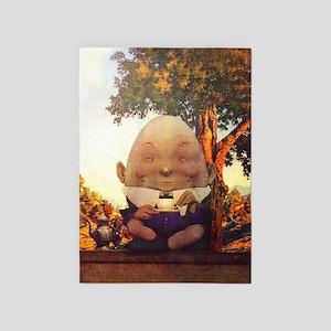 Humpty Dumpty in Wonderland 5'x7'Area Rug