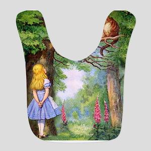 Alice and the Cheshire Cat Bib