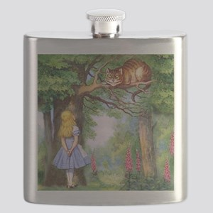 Alice and the Cheshire Cat Flask
