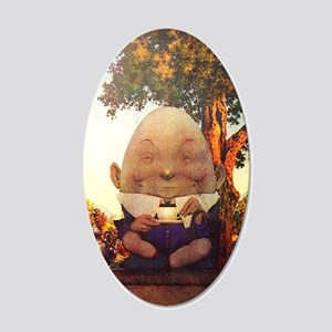Humpty Dumpty in Wonderland 20x12 Oval Wall Decal