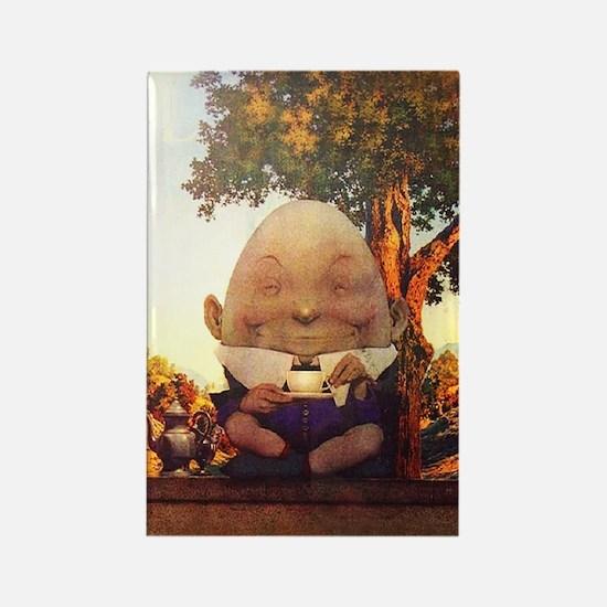Humpty Dumpty in Wonderland Rectangle Magnet