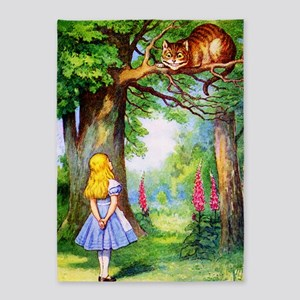 Alice and the Cheshire Cat 5'x7'Area Rug
